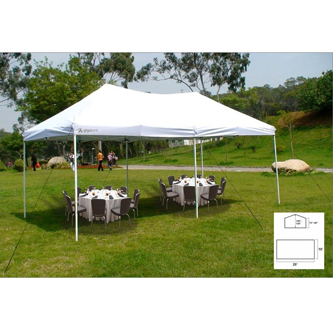Giga The Party Tent 20 X 10 Canopy White 13197245