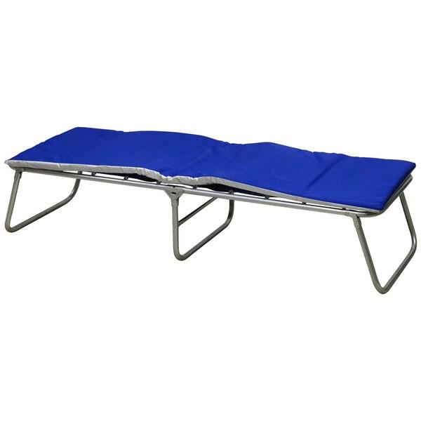 FCM Blue Steel Frame Comfort Cot