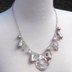 Shell Bauble Natural Charm Necklace (India)