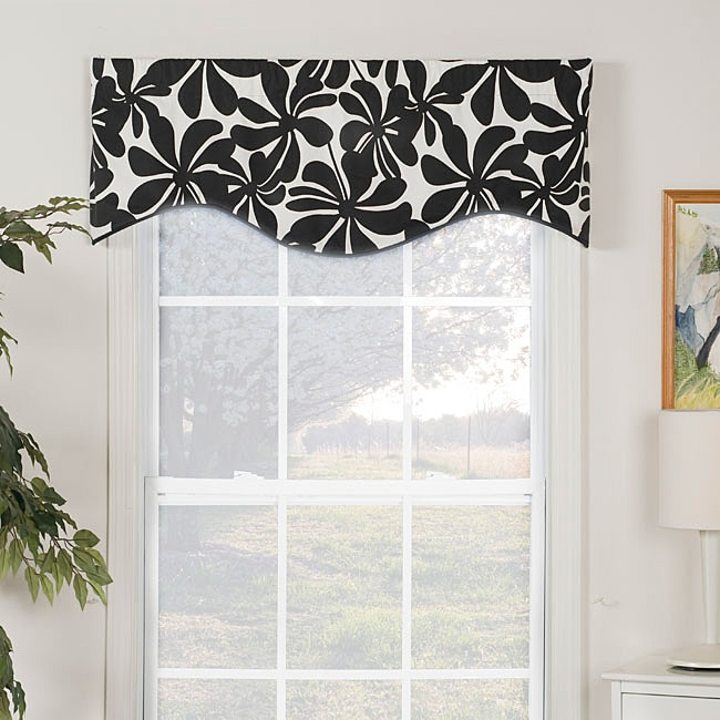 Swirl Print Shaped Valance