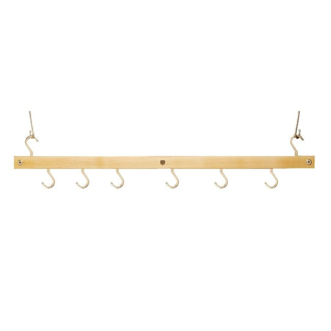 J.K. Adams Natural Bar Pot Rack