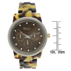 Geneva Women's 'Platinum' Chronograph-style Link Watch