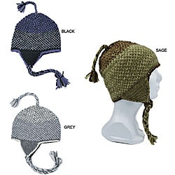 Wool Two-tone Ear Flap Beanie (Nepal)