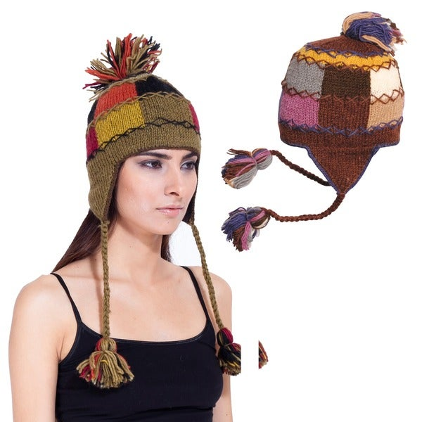 Wool Patch Work Beanie (Nepal)