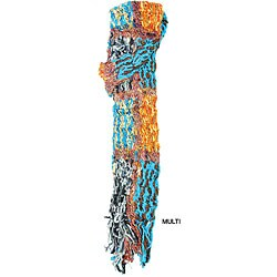 Acrylic and Recycled Silk Multi-color Scarf (Nepal)