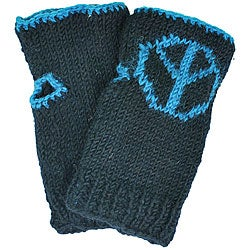 Wool Peace Sign Arm Warmers (Nepal)