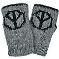 Wool Peace Sign Arm Warmers (Nepal)