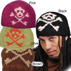 Wool Skull Beanie Hat (Nepal)