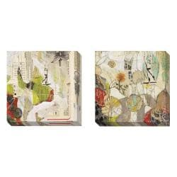 Judy Paul 'Breathing and Garden' 2-piece Canvas Art Set