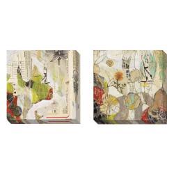 Judy Paul 'Breathing and Garden' 2-piece Canvas Art Set