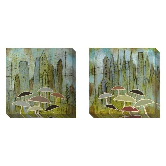 Gallery Direct Judy Paul 'Rain Again' Set of 2 Gallery Wrapped Canvas Art Set