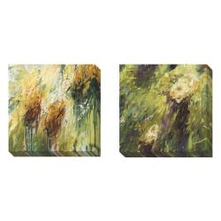 Karen Silve 'Eras A' Set of 2 Gallery Wrapped Canvas Art Set