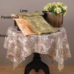 Fern Design Square Table Topper