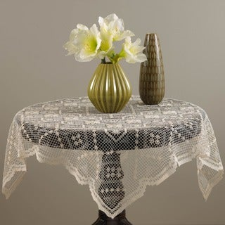 Tuscany Lace Ecru 36-inch Square Tablecloth