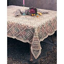 Tuscany Lace Ecru 36-inch Square Tablecloth