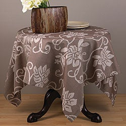 Contempo Capuccino 40-inch Square Tablecloth