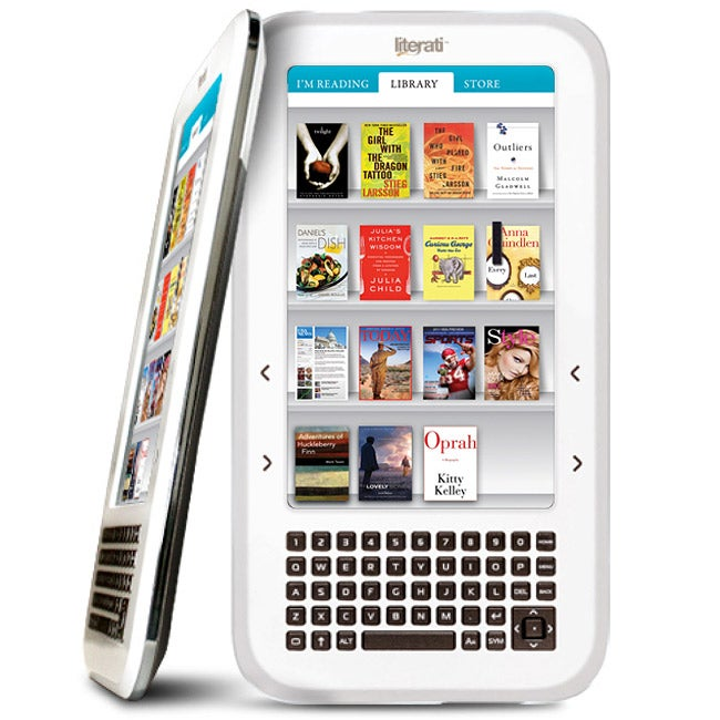 The Sharper Image Literati White Wireless Reader