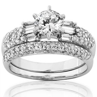 Annello 14k White Gold 1 3/4ct TDW Diamond Bridal Ring Set (H-I, I1-I2)