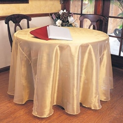 Shimmery Round Tablecloth