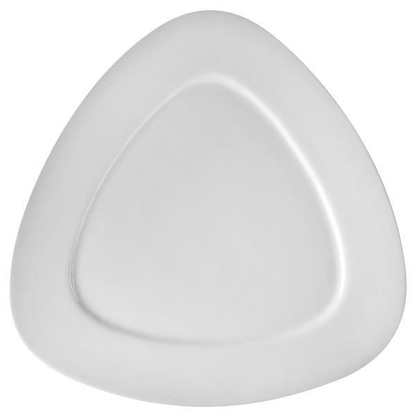 White Triangle Salad/Dessert Plate 7.5-inch (Set of 6)