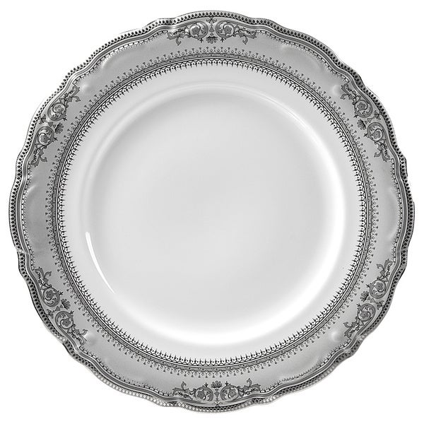 "Vanessa Platinum 12"" Charger Plate (Set of 6)"