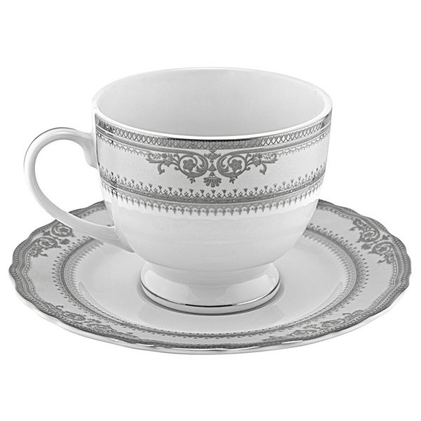 Vanessa Platinum Cup and Saucers (Set of 6) 7370579