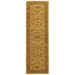 Handmade Treasure Ivory/ Brown Wool Runner (2'3 x 20')