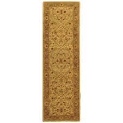 Safavieh Handmade Treasure Ivory/ Brown Wool Runner (2'3 x 20')