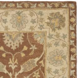 Handmade Farahan Brown/ Taupe Wool Rug (8' Square)
