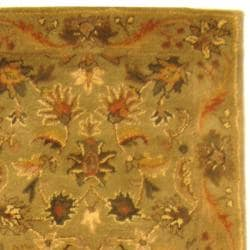 Safavieh Handmade Antiquities Kasadan Olive Green Wool Runner (2'3 x 14')