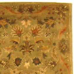 Safavieh Handmade Antiquities Kasadan Olive Green Wool Runner (2'3 x 16')