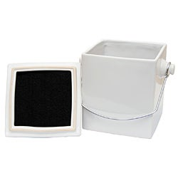 Le Chef French White Ceramic Square 1.5-gallon Compost Pail
