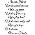 Decorative 'In Our Home' Vinyl Wall Art Quote
