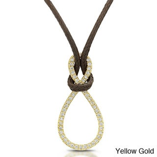 14k Yellow Gold 1/5ct TDW Diamond Infinity Necklace (I-J, I1-I2)