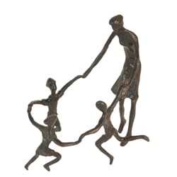 Ring Around the Rosie Cast Bronze Sculpture
