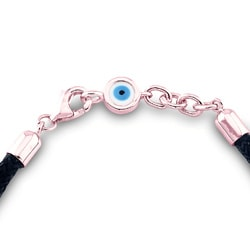 14k Rose Gold 1/3ct TDW Diamond Evil Eye Bracelet (I-J, I2-I3)