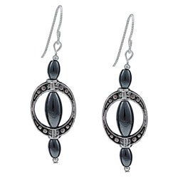 MSDjCASANOVA Argentium Silver, Pewter and Hematite Earrings