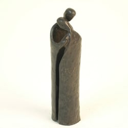 Danya B Couple Embrace Cast Bronze Sculpture