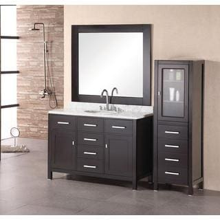 Design Element London Single Sink Espresso Bathroom Vanity Set