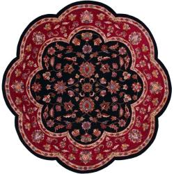 Hand-tufted Red Wool Rug (5' Round)