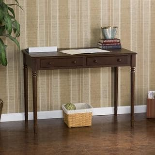 Upton Home Espresso Two Drawer Writing Desk