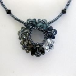 Black Crystal Circle of Joy Classic Necklace (USA)