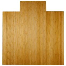 Eco Bamboo Deluxe Natural Chair Mat with lip (55 x 57)