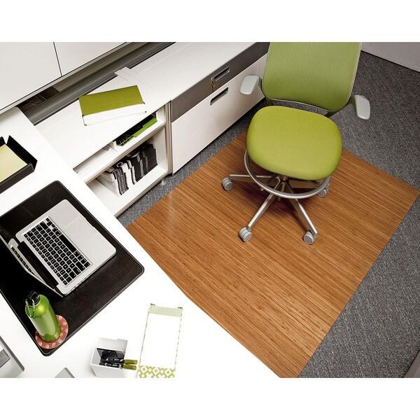 Eco Bamboo Deluxe Rectangular Natural Chair Mat (60 x 48)