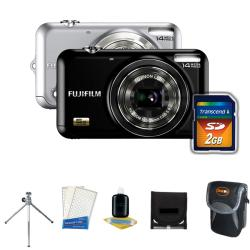 Fuji JX-250 14MP Digital Camera with Deluxe Camera Accessories Kit (Refurbished)