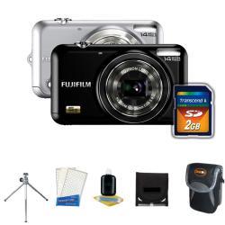 Fuji JX-250 14MP Digital Camera with Deluxe Camera Accessories Kit (Refurbished)