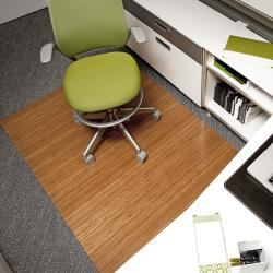 Eco Bamboo Deluxe Rectangular Natural Chair Mat (72 x 48)