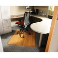 Eco Bamboo Standard Rectangular Natural Chair Mat (42 x 48)