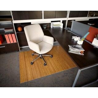 Eco Bamboo Standard Rectangular Natural Chair Mat (72 x 48)