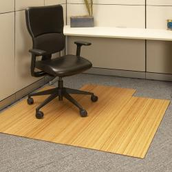 Eco Bamboo Standard Natural Chair Mat with lip (55 x 57)